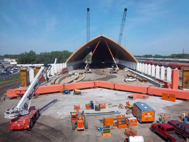 PotashCorp's Storage Facility near Hammond under Construction